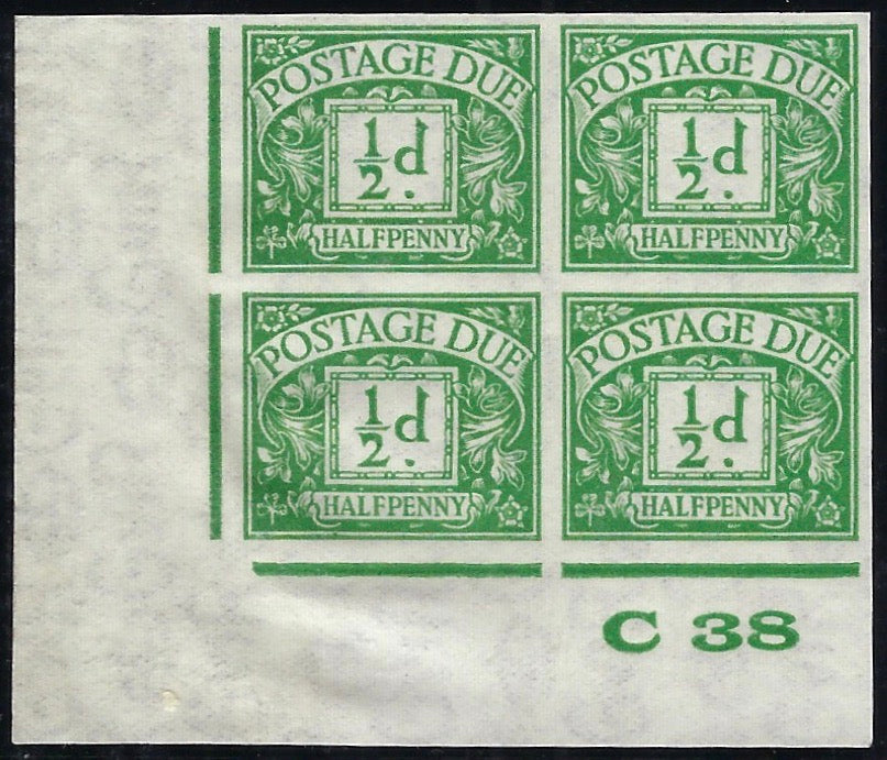 Great Britain 1938 ½d Emerald (Watermark G VI R Sideways).  SG D27var