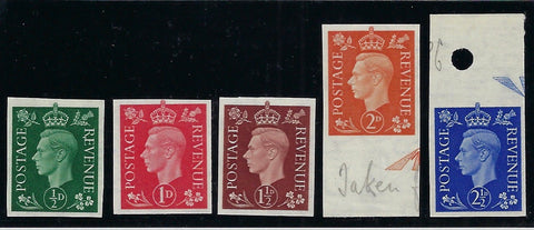 Great Britain 1937-47 ½d-2½d Definitives (Dark colours, Watermark sideways). SG462/6avar