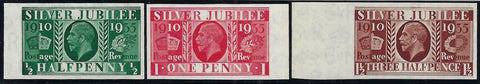 Great Britain 1935 ½d1½d 'Silver Jubilee' (Type III, Watermark Upright). SG 453/5var