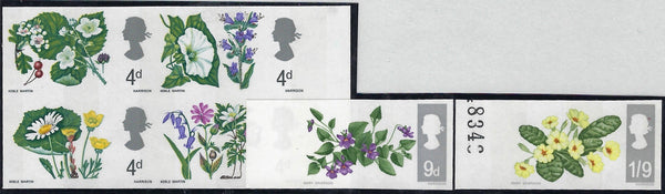 Great Britain 1967 4d-1s9d British Wild flowers (Phosphor). SG717/22pvar