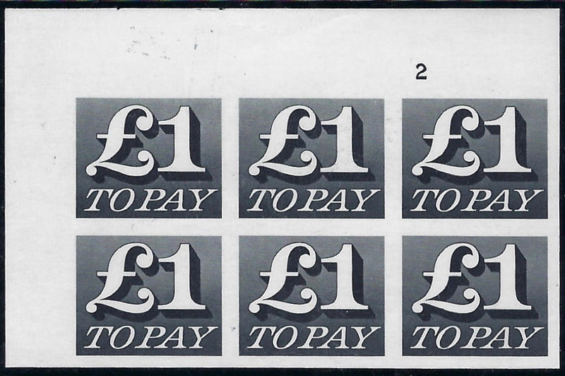 Great Britain 1971 £1 'Postage Dues' (Decimal Currency). SG D88var