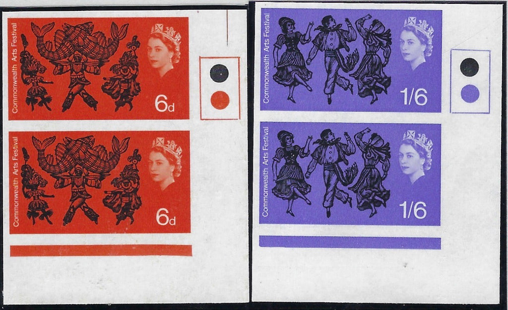Great Britain 1965 6d-1s6d Commonwealth Arts Festival (Ordinary). SG 699/70var