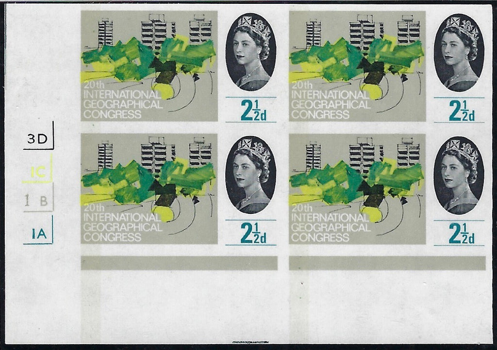 Great Britain 1964 2½d 20th International Geographical Congress (Phosphor). SG 651p var