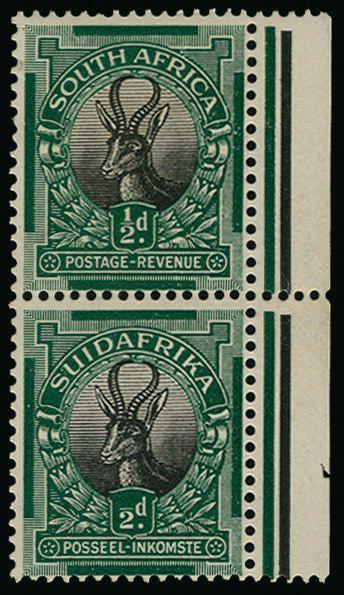 South Africa 1926-27 ½d black and green SG30a