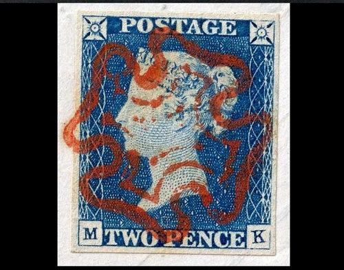 Great Britain SG5 2d blue cover