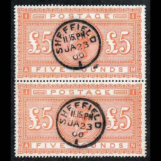 Great Britain SG137 £5 Orange - used pair