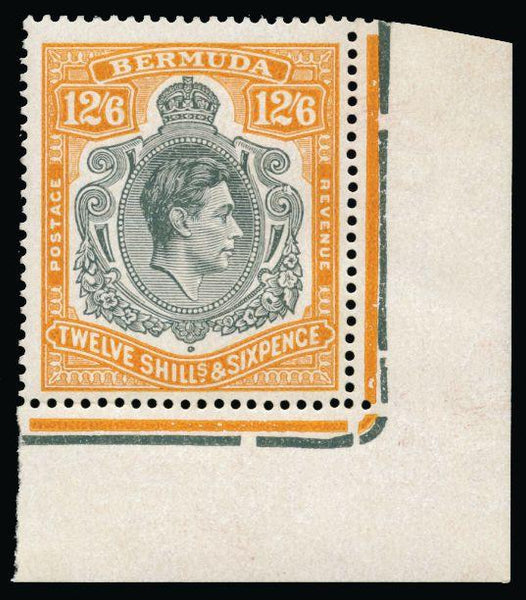Bermuda 1938-53 12s6d grey and pale orange SG120ce