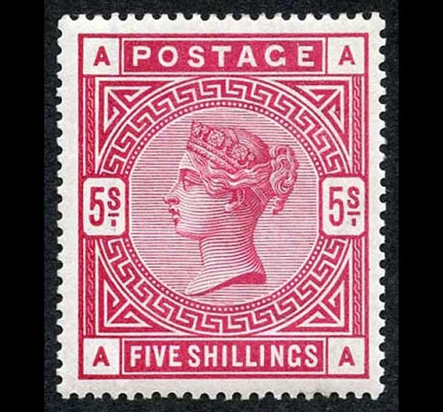 Great Britain 1884 5s crimson. SG181