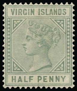 British Virgin Islands Mint 1883-84 ½d dull green SG27b