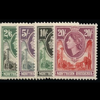 Northern Rhodesia 1953 set of 14 to 20s Unmounted Mint SG61/74