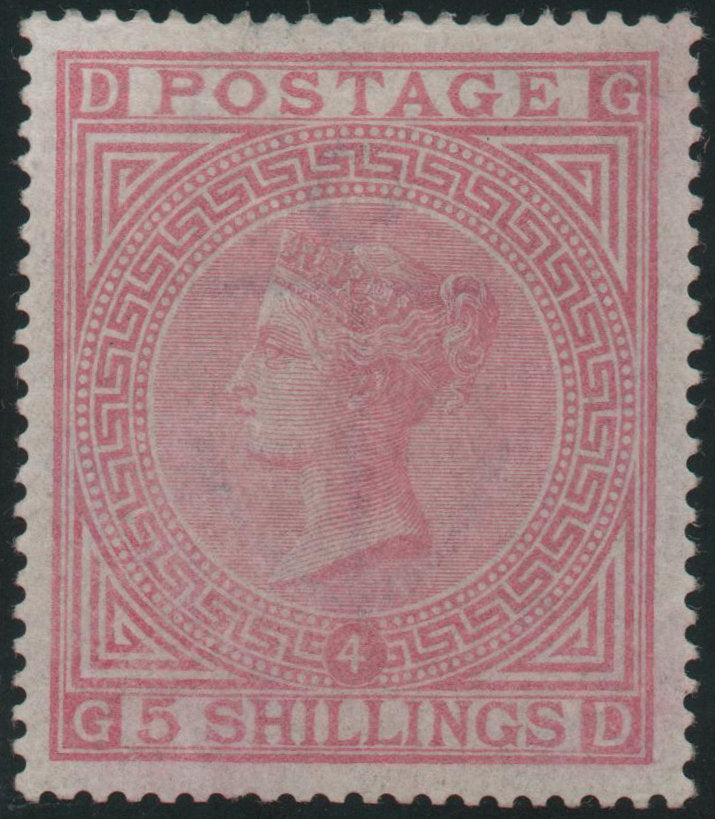 Great Britain 1882   5s. Rose (Plate 4), Mint SG134