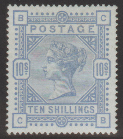 Great Britain 1884 10s. Cobalt, Mint SG182