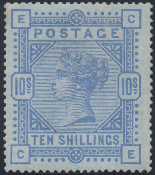 Great Britain 1884 10s. Ultramarine, Mint SG177