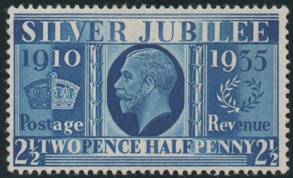 Great Britain 1935 Prussian Blue 2½d, Unmounted Mint SG456a