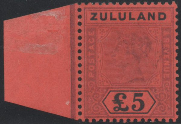 South Africa, Zululand 1894 £5 purple and black/red, Mint SG29