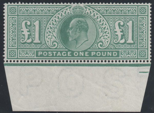 Great Britain 1902 £1 Dull blue green, Unmounted Mint SG266