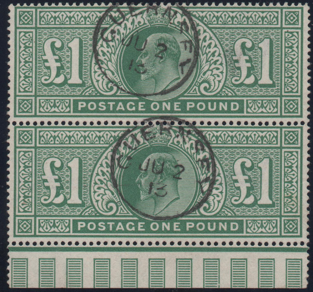 Great Britain 1911 £1 deep green, Used SG320