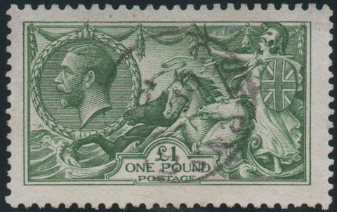 Great Britain 1913 £1 Green , Used SG403