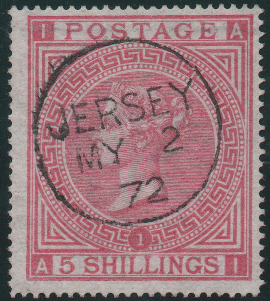 Great Britain 1867 5s. Rose, Used SG126