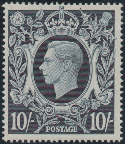 Great Britain 1939 10s. Dark blue, Unmounted Mint SG478