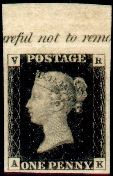 Great Britain 1840 1d Black (V.R. Official), Unmounted Mint SGV1