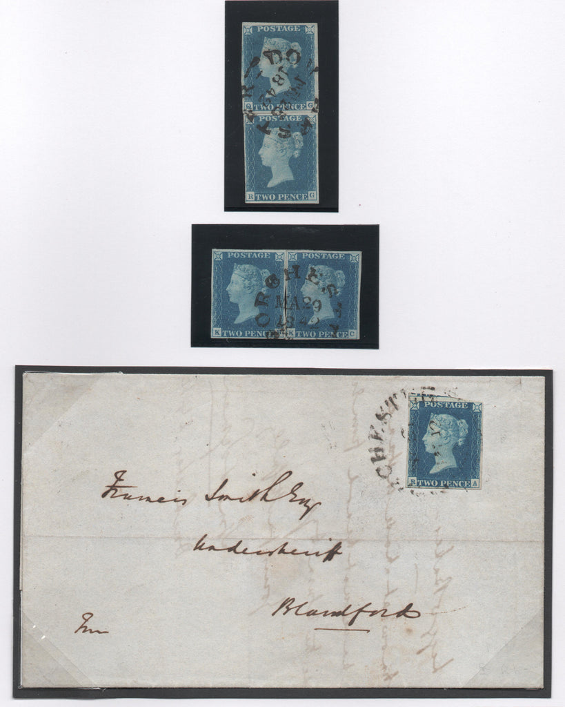 Great Britain 1840 2d. Blue from Plate 2, Used SG5