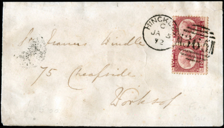 Great Britain 1864 ½d rose-red, plate 9. SG48