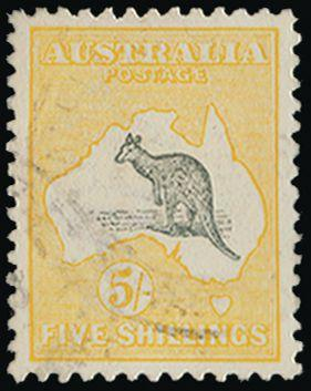 Australia 1915 5s grey and yellow SG30