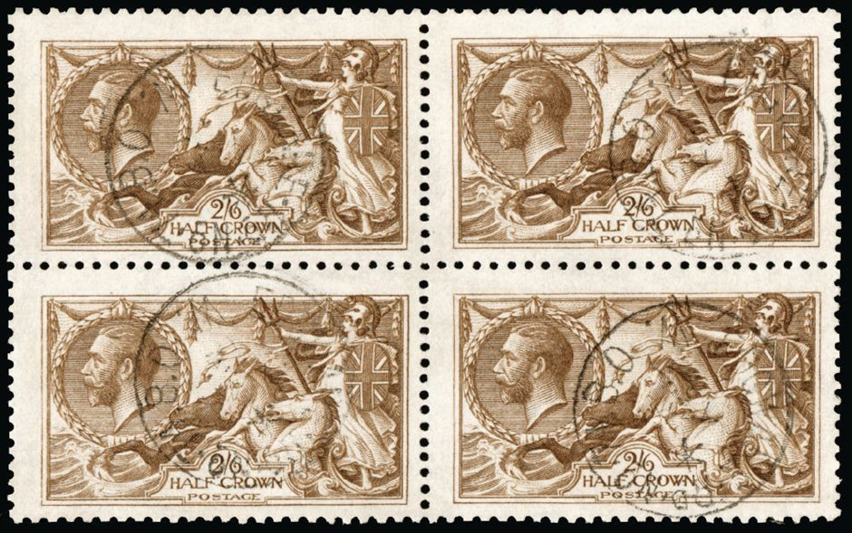 Great Britain 1915 King George V 2s6d yellow brown,