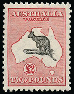 Australia 1929-30 £2 black and rose SG114