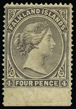 Falkland Islands 1878-79 4d grey-black SG2a