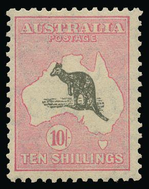 Australia 1931-36 10s grey and pink SG136