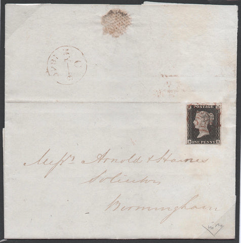 Great Britain 1840 1d black, plate 1a, SG2