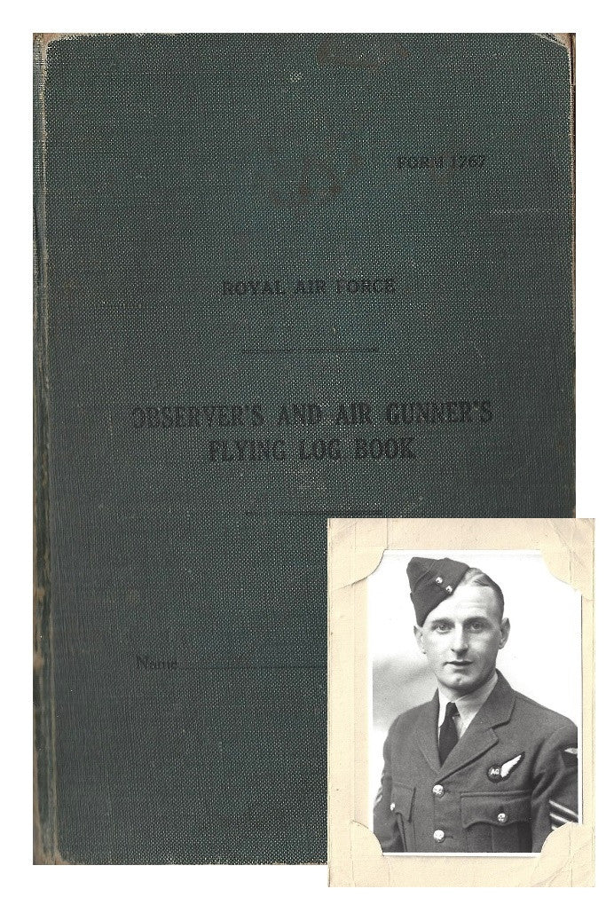 RAF flight logbook signed by Guy Gibson and other Dambusters pilots