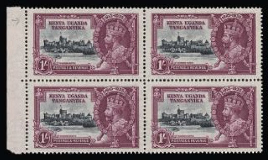 Kenya, Uganda and Tanganyika 1935 Silver Jubilee 1s slate and purple SG127/i