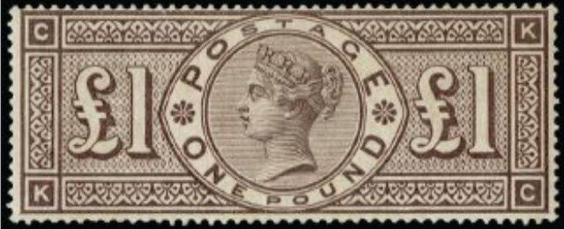 Great Britain 1884 £1 Brown-lilac postage stamp, SG185