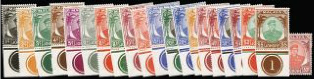 Malaya - Johore 1949-55 set of 21 to $5 SG133/47
