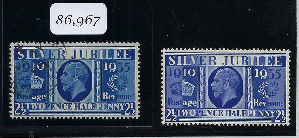 Great Britain 1935 2½d Prussian blue. SG456a