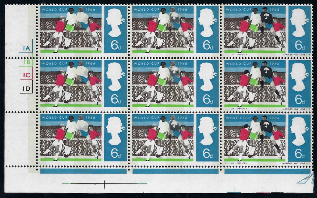 Great Britain 1966 6d World Cup Football Championship (Phosphor). SG694pa