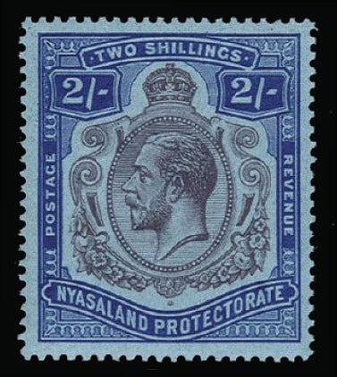 Nyasaland 1921-30 2s purple and blue/blue SG109b
