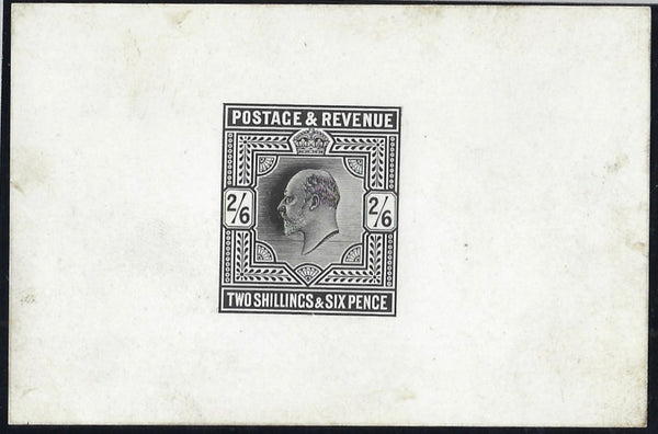 Great Britain 1902 2s6d Die Proof. SG260var