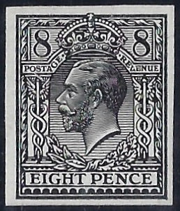 Great Britain 1912 8d Trial of Eves Pillar design (22m, medal head). SG390var