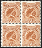 "NEW ZEALAND 1907-08 3d brown ""Huia"", SG378"