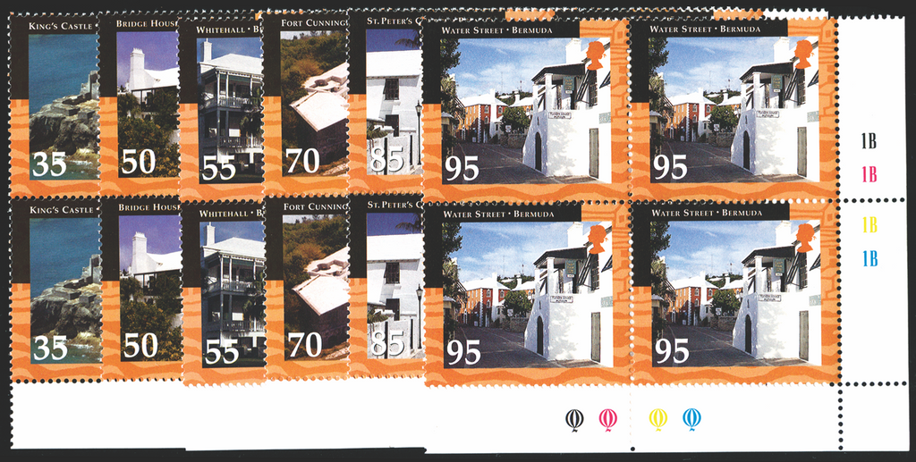 BERMUDA 2001 Historic Buildings set of 6 to 95c, SG857/62