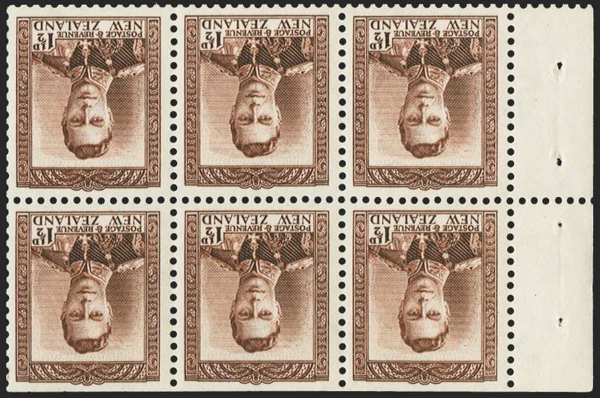 NEW ZEALAND 1938-44 1½d purple-brown variety, SG607w