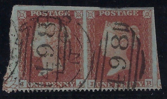 Great Britain 1854 1d Red Brown Plate 1. 181.  SG17a