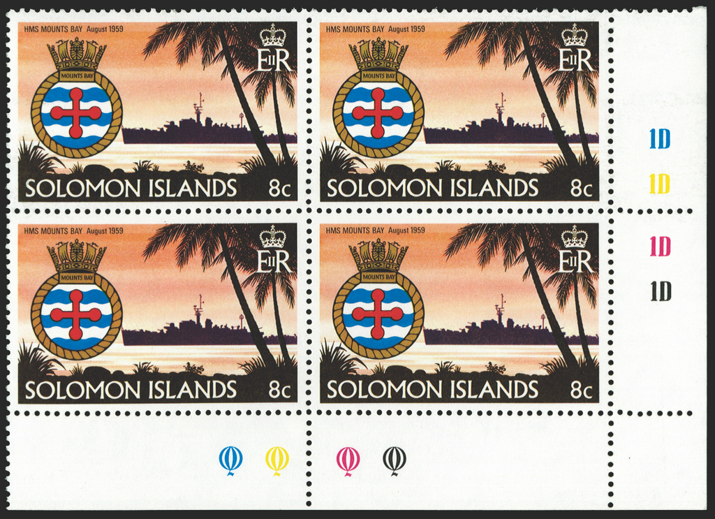 SOLOMON ISLANDS 1981 Ships and crests 8c (UNUSED), SG430w