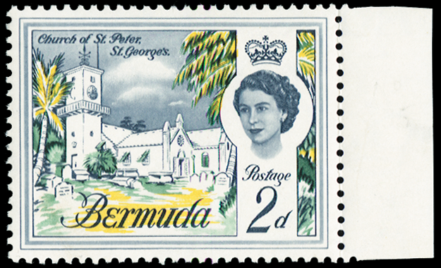 BERMUDA 1962-68 2d lilac, indigo, yellow and green (UNUSED), SG164a
