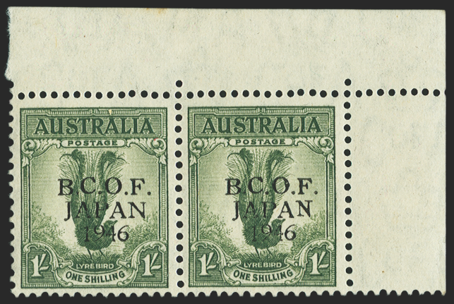AUSTRALIA B.C.O.F. 1946-48 grey-green (UNUSED), SGJ5c