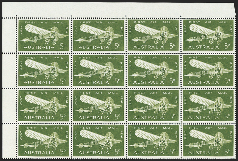 AUSTRALIA 1964 First Australian Airmail 5d olive-green (UNUSED), SG370a